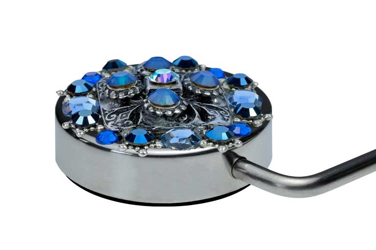 Tassenhanger-handbag-holder-swarovski-ONI-youroni-Blue-Lady-A-NL